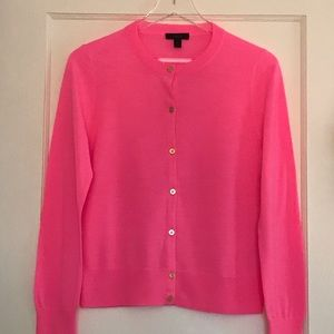 J. Crew Wool Jackie Cardigan with Gold Buttons